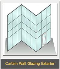 Aluminum Glass Partition Sections, Aluminum Glazed Partition